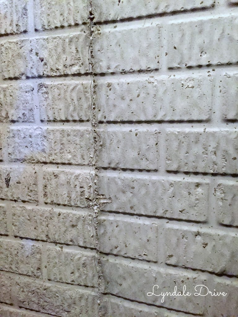 How i painted faux brick walls in the mancave for Poured concrete basement walls