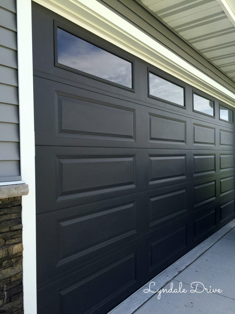 black-paint-garage-door