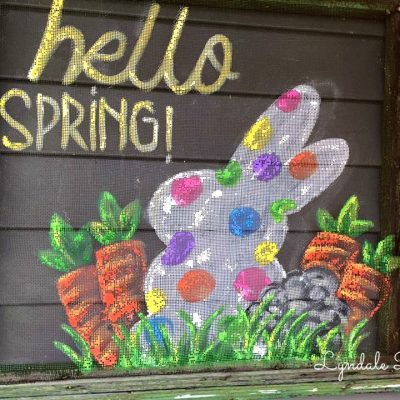 hello-spring-painted-screen