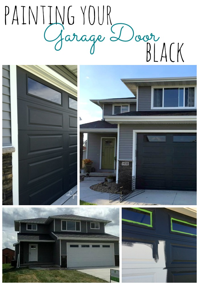 painting-your-garage-door-black