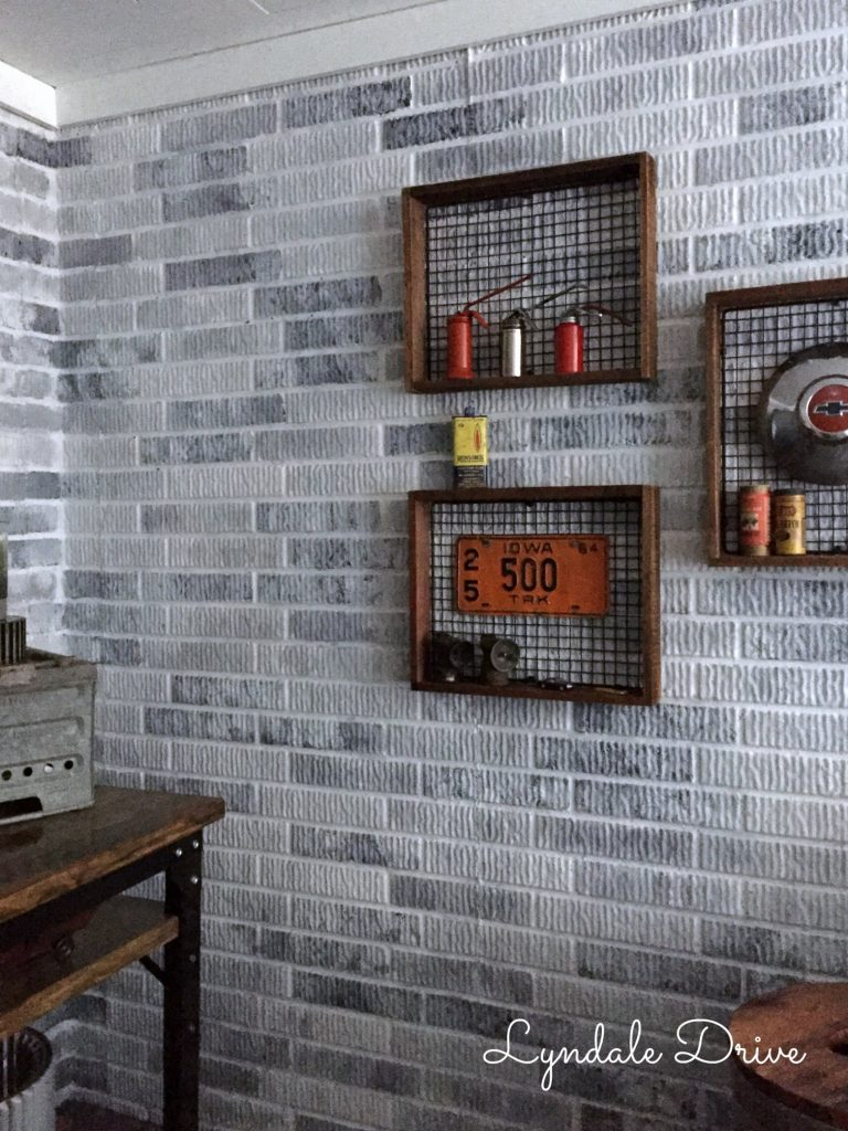 how i painted faux brick walls in the mancave