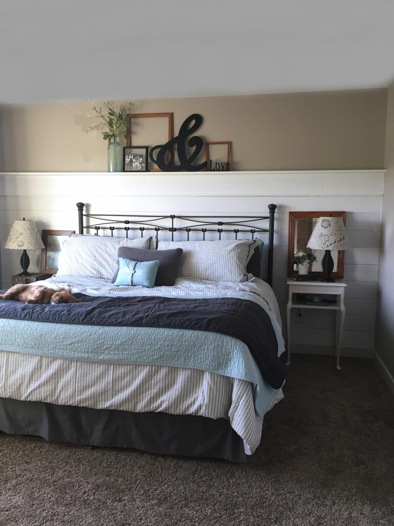 Master Bedroom Shiplap - Lyndale Drive