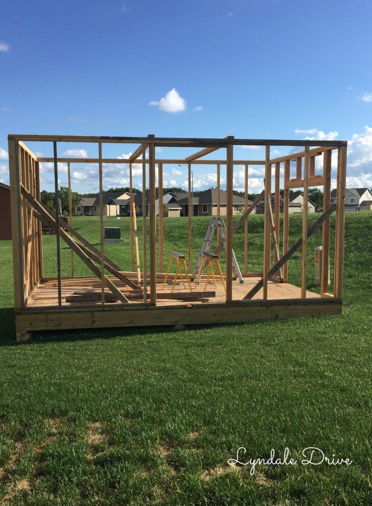 Framing-a-shed