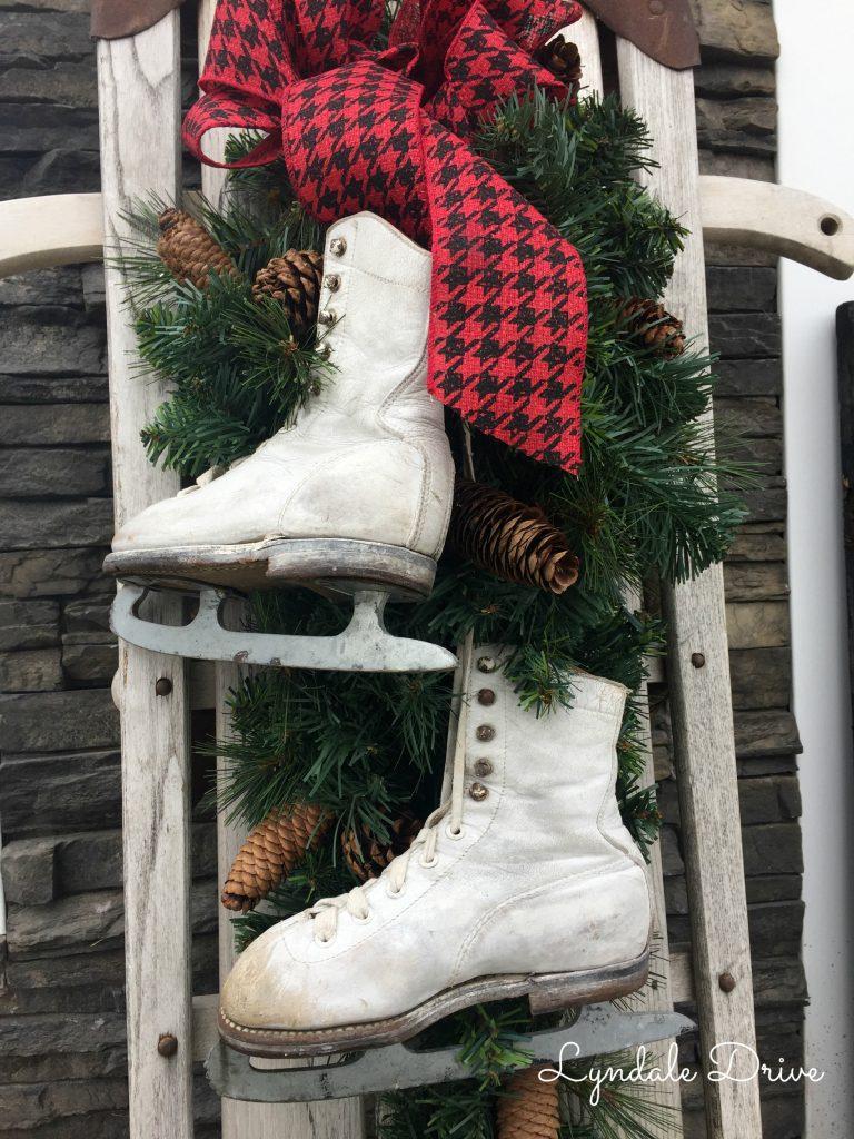 vintage-sled-and-ice-skates