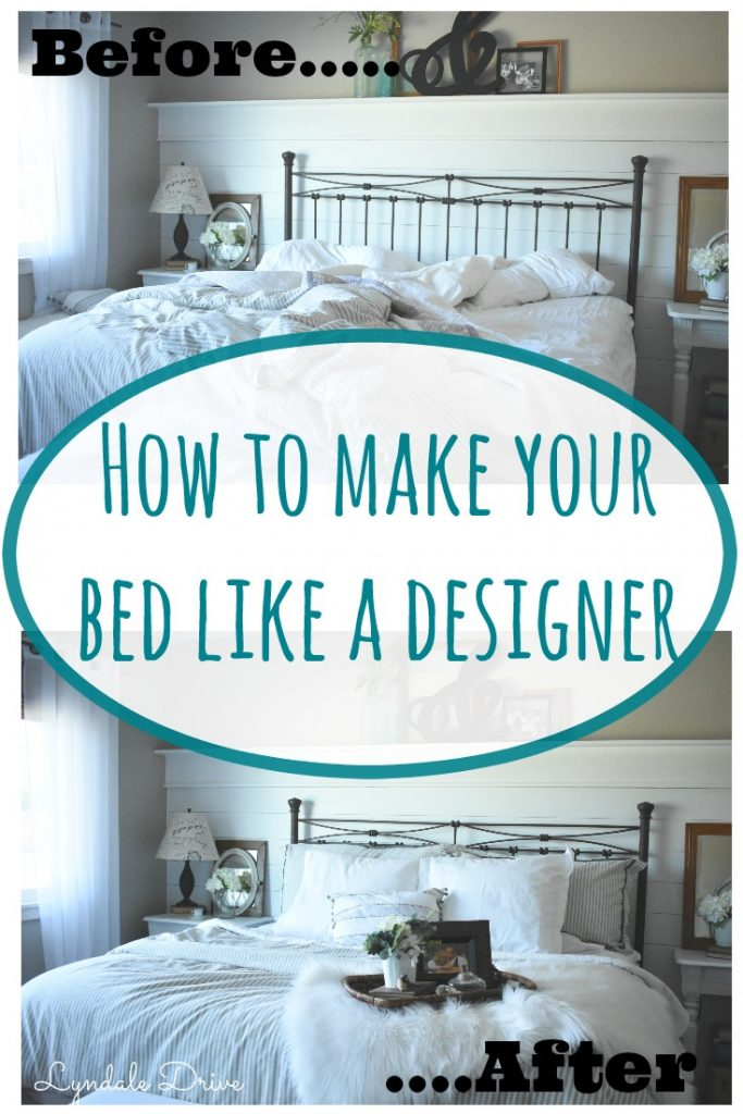 how to make your bed like a professional designer